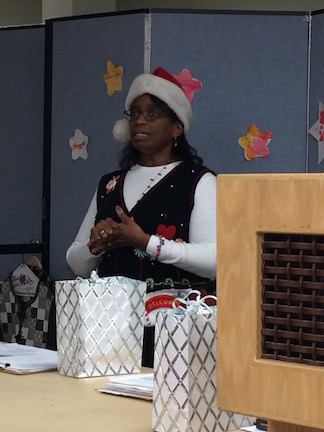Anita calls for class signups.