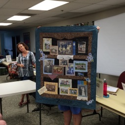 This is a version of the Bookcase Quilt being taught in class by Jane Haworth.