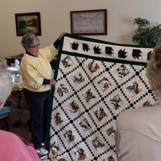 Sherry finished her quilt first!