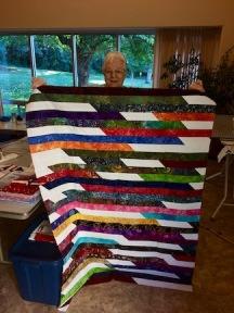 Cindy's scrappy modern quilt.