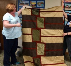 Janet completed her annual quilt