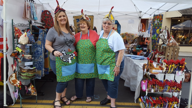 Chicken Festival helpers Lynnda, Kathy, and Susan 2019